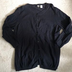Nordstrom Black Button Up Sweater
